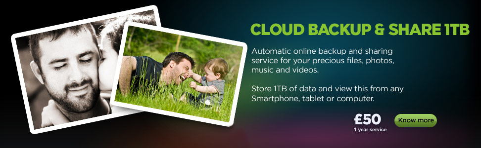Backup and share your data with our cloud service